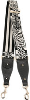 Valentino Garavani Valentino zebra embroidered bag strap - women - Cotton/Leather - One Size
