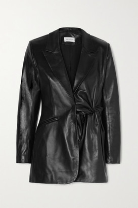 16Arlington Moriyo Knotted Leather Blazer - Black