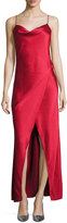 Camilla And Marc Bowery Draped Satin Slip Gown, Mid Red