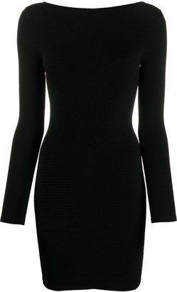 DSQUARED2 Ribbed Fitted Mini Dress
