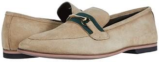 Walk London Raphael Trim Loafer (Stone Suede) Men's Shoes