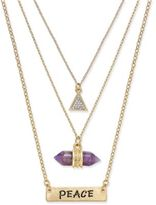 Macy's Inspired Life Multi-Layer Pavé Message Pendant Necklace