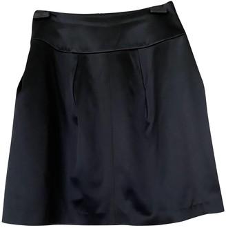 Maison Rabih Kayrouz Black Silk Skirts