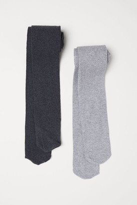 H&M 2-pack Tights - Gray