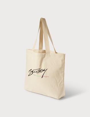 Stussy New Wave Designs Canvas Tote