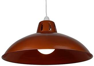 Loxton Lighting Battersea Metal Light Shade Pendant, Copper, Large, 16-Inch