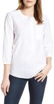NYDJ Women's Pleat Back Linen & Cotton Top