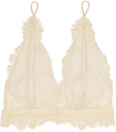 Anine Bing Lace Soft-cup Bra - Off-white