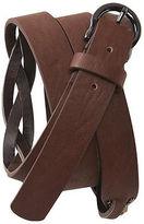 Aeropostale Womens Studded Split Braid Belt