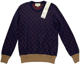 Gucci Blue Wool Knitwear & Sweatshirts