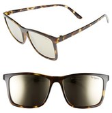Le Specs Women's 'Master Tamers' 56Mm Sunglasses - Coal Tortoise