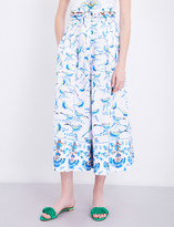 Peter Pilotto Bird print stretch-cotton trousers
