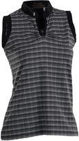Asstd National Brand Dizzy Sleeveless Sleeveless Stripe Jacquard Polo Shirt