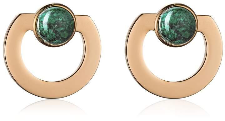 Vita Fede Moneta Open Stone Earrings