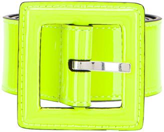 Saint Laurent Patent Leather Belt in Neon Yellow | FWRD
