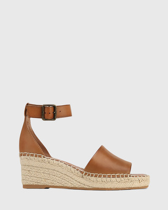 Wittner - Women's Brown Sandals - Krysta Leather Espadrille Wedge Sandals - Size One Size, 37 at The Iconic