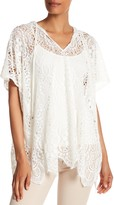 Trina Turk Sidonia Crochet Lace Hooded Pullover