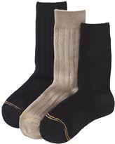 Gold Toe Boys GOLDTOE 3-pk. Wide-Rib Dress Socks