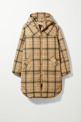 Weekday Rut Puffer Jacket - Beige
