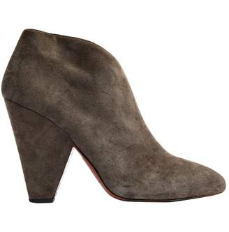 Alaia \N Grey Suede Ankle boots