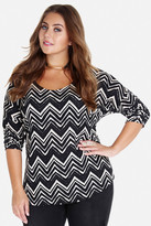 Fashion to Figure Carson Dolman Chevron Top