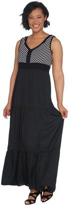 Lisa Rinna Collection Chevron Bodice Maxi Dress