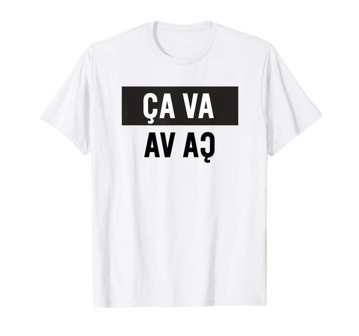 V&A Ca Va French Slogan T-Shirt