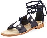 Rag & Bone Evelyn Lace-Up Flat Leather Sandal