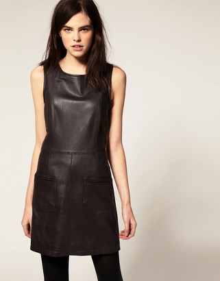 Urban Code Leather Shift Dress