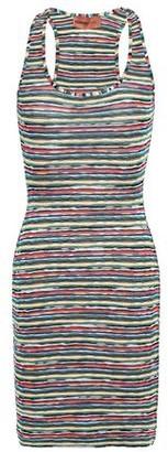 Missoni Mare Mare Metallic Crochet-knit Mini Dress