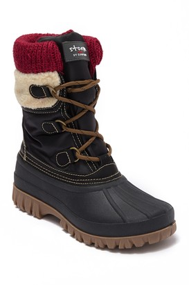 Cougar Cove Woven Cuff Faux Fur Lined Waterproof Boot