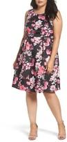 Dorothy Perkins Plus Size Women's Floral Print Sleeveless Dress