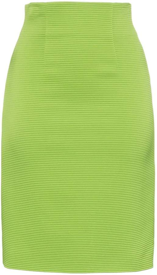 Versace high-waisted fitted skirt