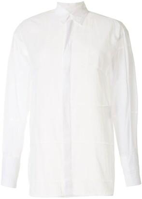 Y's Check-Pattern Longsleeved Shirt
