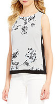 Armani Exchange Printed Sleeveless Shell Top