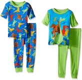 Disney Little Boys Prehistoric Pals 4-Piece Pajama Set