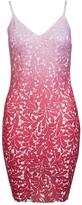 Quiz Red Ombre Crochet Bodycon Midi Dress