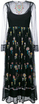 RED Valentino long-sleeved embroidered dress - women - Cotton/Polyester - 38