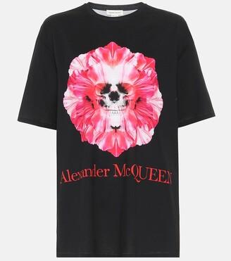 Alexander McQueen Printed cotton-jersey T-shirt