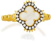 Freida Rothman Iridescent Spiked Clover Ring