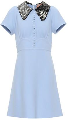 N°21 Embellished-collar dress