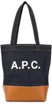 A.P.C. logo print tote bag