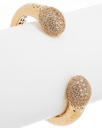 Rivka Friedman 18K Rose Gold Clad Simulated Diamond Cuff