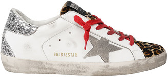 Golden Goose Superstar Leopard-Print Court Sneakers