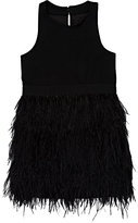 Milly FEATHER-SKIRT DRESS-BLACK SIZE 2