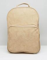 adidas Premium Clean Logo Backpack In Sand