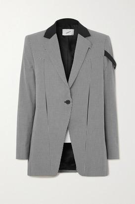 Coperni Connection Houndstooth Cotton Jacket - Black