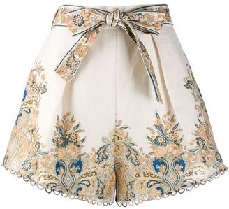 Zimmermann Freja paisley printed shorts
