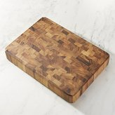 Crate & Barrel Rectangular End Grain Cutting Board