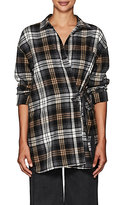 Robert Rodriguez Women's Plaid Cotton-Blend Wrap Shirt